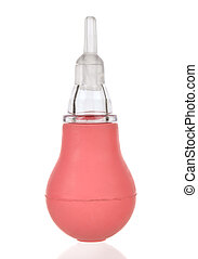 Nasal Aspirator isolated on the white background.