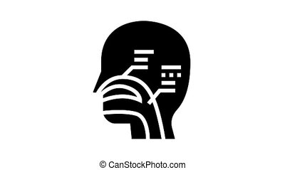 nasal passages animated glyph icon. nasal passages sign. isolated on white background