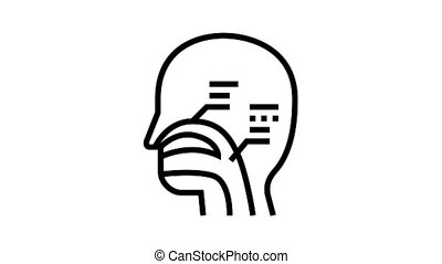 nasal passages animated black icon. nasal passages sign. isolated on white background