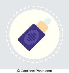 nasal spray bottle icon healthcare medical service logo...