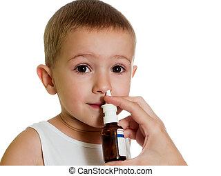 Nasal spray - Medicine nasal spray for flu and cold...