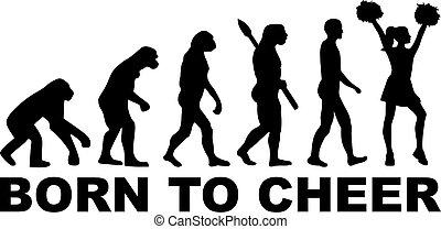 nascido, evolução, alegria, cheerleader