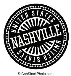 Nashville black and white badge