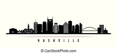 Nashville skyline horizontal banner.