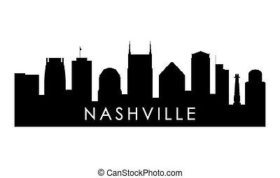 Nashville skyline silhouette.