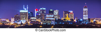 Nashville, Tennessee, USA downtown skyline.