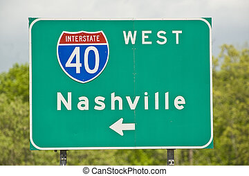 Nashville Tennessee Road Sign