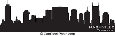 Nashville, Tennessee skyline. Detailed vector silhouette