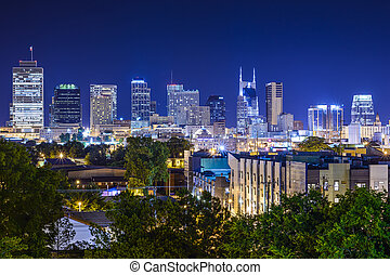 Nashville, Tennessee Skyline - Nashville, Tennesssee, USA...