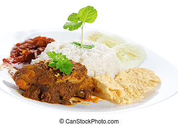 Nasi lemak traditional malay food