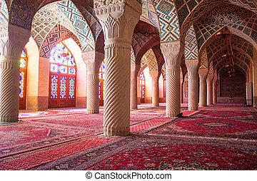 nasir, al-mulk, mesquita, shiraz, irã