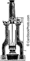 Nasmyth hammer, vintage engraving.