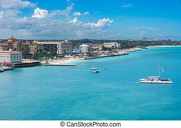 Nassau, Bahamas beach and port