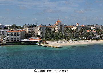 nassau, bahamas., playa