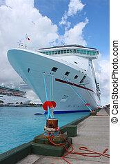 nassau, bateaux, port, croisière