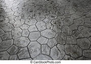 nasse, steinboden
