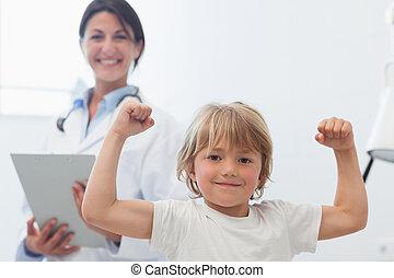 następny, doktor, szczęśliwy, dziecko