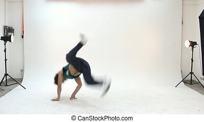 nastolatek, czyn, breakdance, taniec