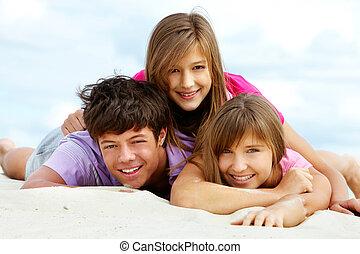 nastolatki, szczęśliwy