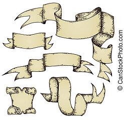 nastri, pergamena, rotoli