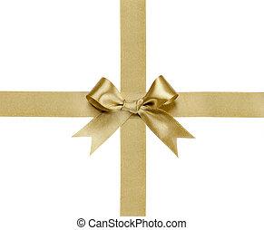nastro bianco, isolato, arco regalo