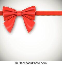 nastro, bow., rosso