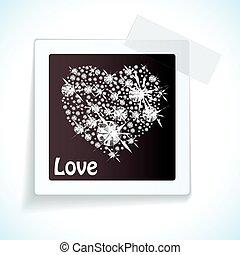 nastro, carta, amore, etichetta