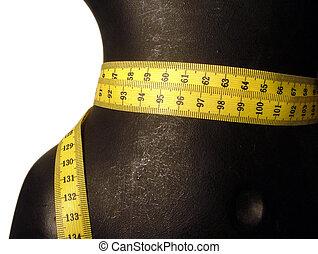 nastro di misura, indossatrice