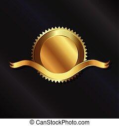 nastro oro, sigillo