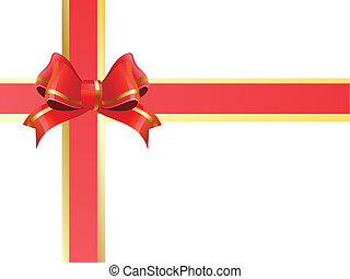 nastro, regalo, rosso