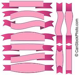 nastro rosa, illustrazione