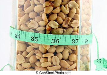 nastro, vaso, arachidi, misura