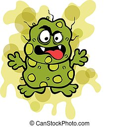 Nasty Germ Microbe - Vector Illustration of a yucky germ...