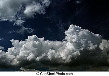 nasycený, clouds.