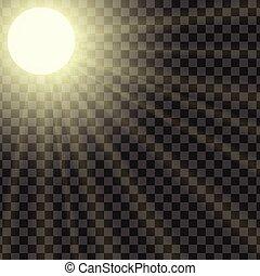 nasycenie, promienie, zdolność, słońce, ilustracja, wektor, regulować