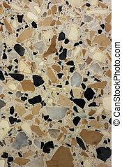 natürlich, marmor, -, koralle riff
