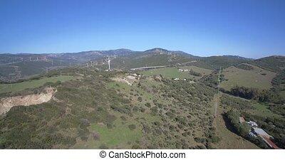 natürlich,  parque, Luftaufnahmen,  estrecho,  del,  tarifa, Spanien