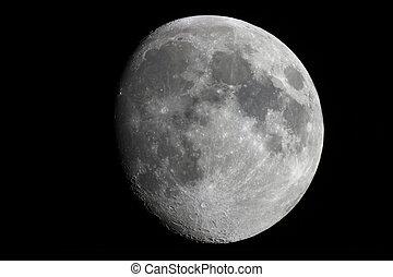 natürlich, satellite., earth's, mond, hintergrund, hälfte,...