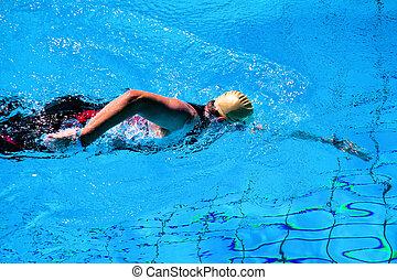 natação, homem