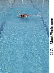 natación del freestyle