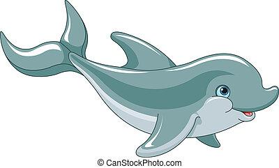 natación, delfín