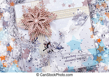 natal ano novo, caixa presente