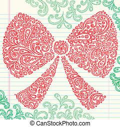 natal, arco, sketchy, doodles