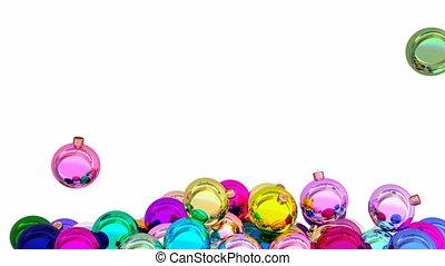 natal, bolas, animação 3d