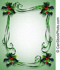 natal, borda, quadro