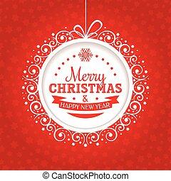 Natal, cartão, Saudação