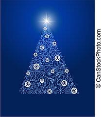 natal, decorado, árvore