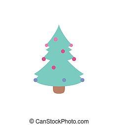 natal, desenho, árvore, vetorial, feliz, pinho