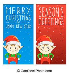 natal, e, feriados, bandeiras