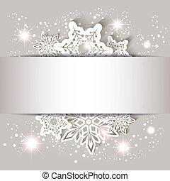 natal, estrela, snowflake, cartão cumprimento